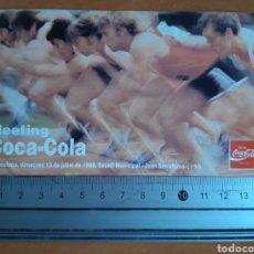 Coleccionismo de Coca-Cola y Pepsi: PEGATINA MEETING COCA COLA DE ATLETISMO BARCELONA 1988. Lote 217290071