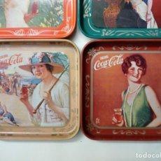 Coleccionismo de Coca-Cola y Pepsi: LOTE DE 5 POSAVASOS METALICOS COCACOLA DRINK -. Lote 217403255