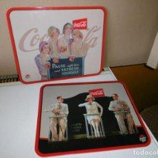 Coleccionismo de Coca-Cola y Pepsi: 2 SALVAMANTELES COCA-COLA, DE PIZZA HUT.. Lote 217447187