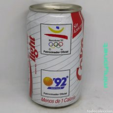 Coleccionismo de Coca-Cola y Pepsi: LATA COCA-COLA LIGHT BARCELONA 92 JUEGOS OLÍMPICOS - EXPO 92 SEVILLA. Lote 218842733