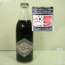 Collectionnisme de Coca-Cola et Pepsi: LLENA SIN ABRIR - COCA-COLA MUNDIAL 1982 - 29 CL- FUTBOL - BOTELLA CRISTAL CORONA- COCACOLA COKE 82. Lote 219550998