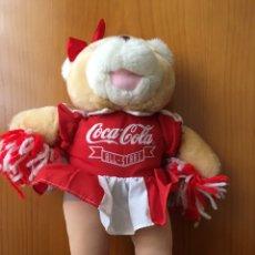 Coleccionismo de Coca-Cola y Pepsi: ANTIGUO PELUCHE COCA COLA ALL STAR CHEERLEADER-30 CM APROX-MADE IN USA-EL MAS DIFICIL DE CONSEGUIR. Lote 221135842