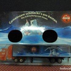 Coleccionismo de Coca-Cola y Pepsi: CAMIÓN PUBLICITARIO DE COCA-COLA ESCALA 1 87. Lote 221255863