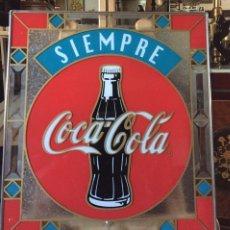 Coleccionismo de Coca-Cola y Pepsi: CARTEL VIDRIADO PUBLICITARIO COCA COLA. Lote 221356832