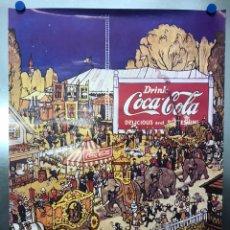 Coleccionismo de Coca-Cola y Pepsi: CARTEL COCA-COLA - AÑOS 1980-90. Lote 222034138