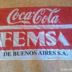 Coleccionismo de Coca-Cola y Pepsi: BANDERA DE COCA COLA FEMSA DE ARGENTINA. MIDE 142X90 CMS. Lote 222143638