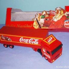 Coleccionismo de Coca-Cola y Pepsi: CAMION COCA COLA FELIZ NAVIDAD DE LA MARCA GISIMA CON SU CAJA ORIGINAL AÑOS 90. Lote 222365881