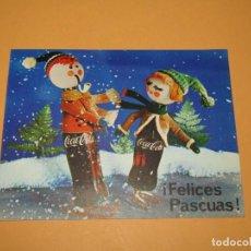 Coleccionismo de Coca-Cola y Pepsi: ANTIGUA FELICITACIÓN FELICES PASCUAS DE COCA COLA COLEBEGA S.A. DE VALENCIA DEL AÑO 1965. Lote 222534866
