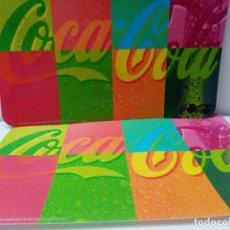 Coleccionismo de Coca-Cola y Pepsi: COCA COLA DOS TAPETES IMPERMEABLES. Lote 222580000