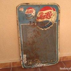 Coleccionismo de Coca-Cola y Pepsi: IMPRESIONANTE ANTIGUA PLACA PEPSI AUTENTICA AÑOS 50. Lote 222863203