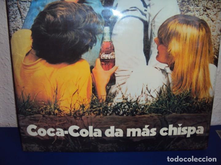 Coleccionismo de Coca-Cola y Pepsi: (CAR-201100)CARTEL PUBLICITARIO COCA-COLA DA MAS CHISPA - AÑOS 70-80 - Foto 3 - 223692298