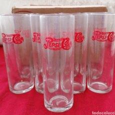 Coleccionismo de Coca-Cola y Pepsi: ANTIGUOS VASOS PEPSI. Lote 224525098