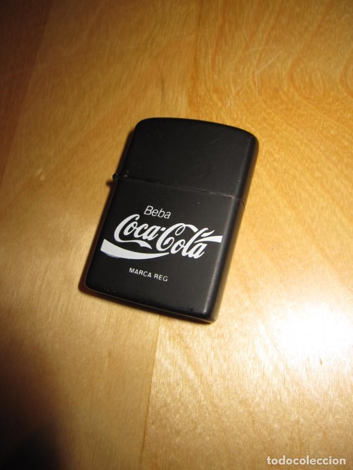 Coleccionismo de Coca-Cola y Pepsi: Antiguo mechero encendedor tipo Zippo Coca Cola CocaCola negro mate - Foto 2 - 228040605