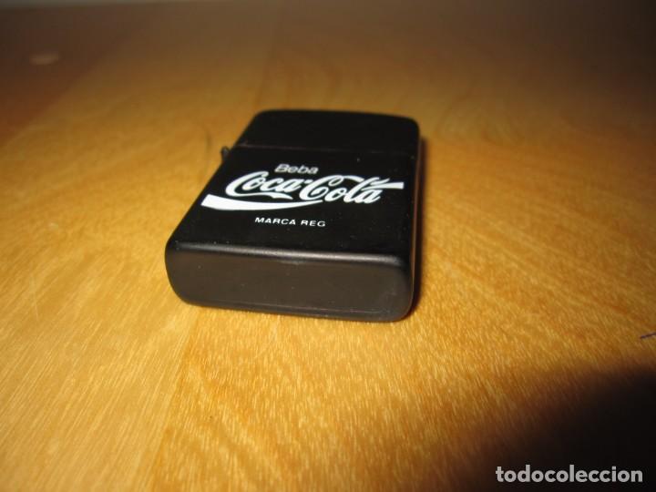 Coleccionismo de Coca-Cola y Pepsi: Antiguo mechero encendedor tipo Zippo Coca Cola CocaCola negro mate - Foto 6 - 228040605