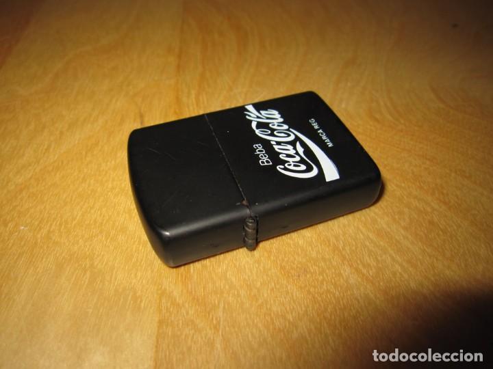 Coleccionismo de Coca-Cola y Pepsi: Antiguo mechero encendedor tipo Zippo Coca Cola CocaCola negro mate - Foto 8 - 228040605