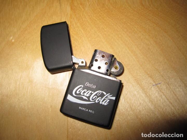 Coleccionismo de Coca-Cola y Pepsi: Antiguo mechero encendedor tipo Zippo Coca Cola CocaCola negro mate - Foto 9 - 228040605