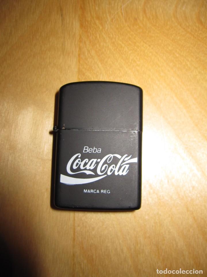 Coleccionismo de Coca-Cola y Pepsi: Antiguo mechero encendedor tipo Zippo Coca Cola CocaCola negro mate - Foto 13 - 228040605