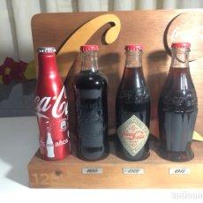 Coleccionismo de Coca-Cola y Pepsi: EXPOSITOR COCA-COLA 125 ANIVERSARIO MÁS BOTELLA ALUMINIO 125 ANIVERSARIO. Lote 230410925
