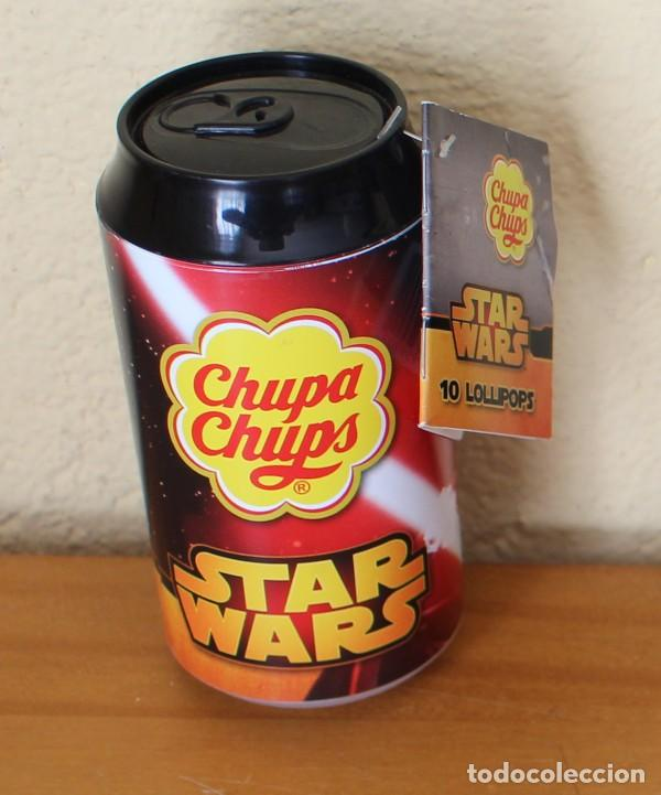 Coleccionismo de Coca-Cola y Pepsi: LATA CHUPA CHUPS STAR WARS DARTH VADER 33 CL. LUCASFILM DISNEY 2017 - Foto 2 - 230478940