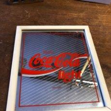 Coleccionismo de Coca-Cola y Pepsi: CUADRO ESPEJO ORIGINAL COCACOLA LIGHT 27,5X22,5CM. Lote 230991150