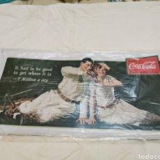 Coleccionismo de Coca-Cola y Pepsi: CARTEL DE CHAPA DE COCA COLA. Lote 232335775