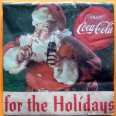 Coleccionismo de Coca-Cola y Pepsi: 20 SERVILLETAS COCA COLA Y PAPÁ NOEL - PAQUETE PRECINTADO - NUEVO. Lote 232395685
