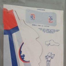 Coleccionismo de Coca-Cola y Pepsi: AVION SUPER JET CARTON AÑOS 70 PUBLICIDAD PEPSI COLA- NUEVO!. Lote 233057905