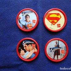 Collezionismo di Coca-Cola e Pepsi: SUPERMAN - 4 PINS - CHAPAS - MEDALLAS - COCA COLA - COCACOLA. Lote 233885085