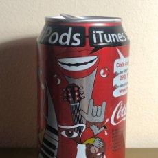 Coleccionismo de Coca-Cola y Pepsi: LATA DE COCA-COLA ITUNES IPODS MÚSICA COCACOLA 2006. Lote 235968080