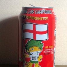 Coleccionismo de Coca-Cola y Pepsi: LATA DE COCA-COLA MUNDIAL FÚTBOL SUDAFRICA INGLATERRA COCACOLA. Lote 235968605