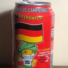 Coleccionismo de Coca-Cola y Pepsi: LATA DE COCA-COLA MUNDIAL FÚTBOL SUDAFRICA ALEMANIA COCACOLA. Lote 235968965