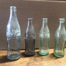 Coleccionismo de Coca-Cola y Pepsi: BOTELLAS DE COCACOLA 4 BOTELLAS DE COCACOLA. Lote 236310760