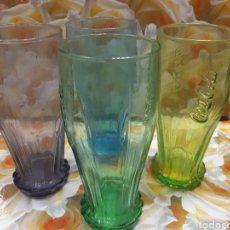 Coleccionismo de Coca-Cola y Pepsi: LOTE DE 4 VASOS DE COCA COLA. DE COLECCIÓN. Lote 237348970