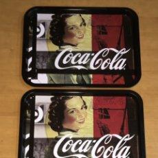Coleccionismo de Coca-Cola y Pepsi: 3 BANDEJAS DE COCA COLA 33X25CM. Lote 237770570