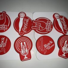Coleccionismo de Coca-Cola y Pepsi: SET 8 ANILLOS SELFIE COCA COLA ROCK YOUR SUMMER. Lote 238347130
