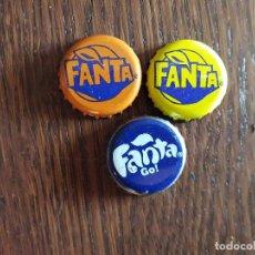 Coleccionismo de Coca-Cola y Pepsi: LOTE DE 3 CHAPAS TAPÓN CORONA DE FANTA. Lote 241156195