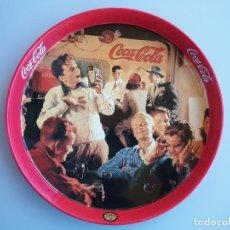 Coleccionismo de Coca-Cola y Pepsi: BANDEJA COCA COLA , BURGER KING , DIAMETRO 27CM. Lote 241851665