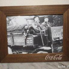 Coleccionismo de Coca-Cola y Pepsi: CUADRO ESTILO VINTAGE COCA-COLA (PUBLICIDAD CAMIÓN CANDIES) - 1ª DÉCADA S. XXI - 41 X 31 CM. Lote 243440725