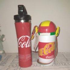 Coleccionismo de Coca-Cola y Pepsi: BOTELLA OFICIAL COCA-COLA, DE EROS PRODUCTS LONDON Y REGALO BOTELLA COCA-COLA ALUMINIO. Lote 244412210