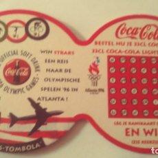 Coleccionismo de Coca-Cola y Pepsi: POSAVASOS DE COCA-COLA. Lote 244847485