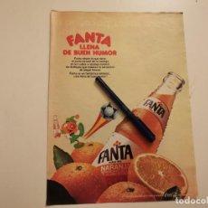 Coleccionismo de Coca-Cola y Pepsi: FANTA NSRANJA MUNDIAL 82 ANUNCIO PUBLICIDAD REVISTA 1982. Lote 245120820