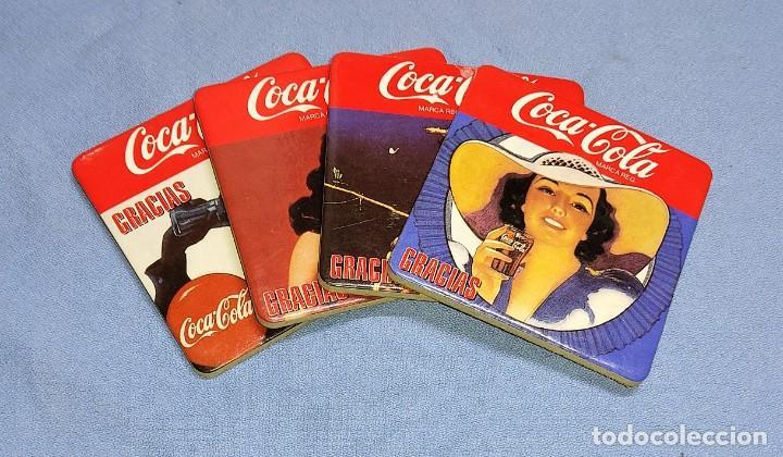 OCASION COLECCIONISTAS LOTE DE 4 POSAVASOS DIFERENTES DE COCA COLA AÑOS 60 SON DE CORCHO GRUESO (Coleccionismo - Botellas y Bebidas - Coca-Cola y Pepsi)