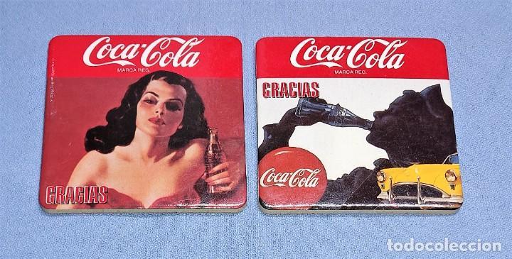 Coleccionismo de Coca-Cola y Pepsi: OCASION COLECCIONISTAS LOTE DE 4 POSAVASOS DIFERENTES DE COCA COLA AÑOS 60 SON DE CORCHO GRUESO - Foto 2 - 245242290