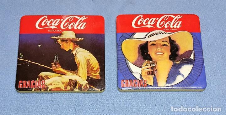 Coleccionismo de Coca-Cola y Pepsi: OCASION COLECCIONISTAS LOTE DE 4 POSAVASOS DIFERENTES DE COCA COLA AÑOS 60 SON DE CORCHO GRUESO - Foto 3 - 245242290