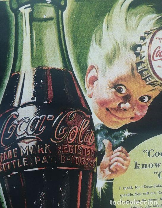 Coleccionismo de Coca-Cola y Pepsi: Coca-Cola - Trade Mark Registered Bottle (1942) Cartel Clásico Reprint Tamaño Grandeed - Foto 4 - 245912665