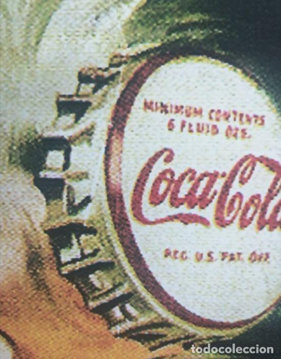 Coleccionismo de Coca-Cola y Pepsi: Coca-Cola - Trade Mark Registered Bottle (1942) Cartel Clásico Reprint Tamaño Grandeed - Foto 8 - 245912665