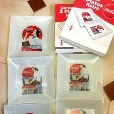 Coleccionismo de Coca-Cola y Pepsi: CINCO PLATOS RETRO COCACOLA.. Lote 246268595