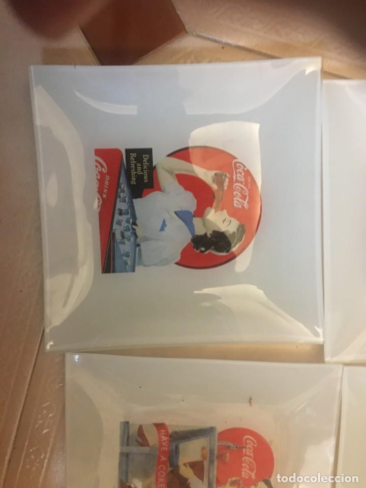 Coleccionismo de Coca-Cola y Pepsi: CINCO PLATOS RETRO COCACOLA. - Foto 3 - 246268595
