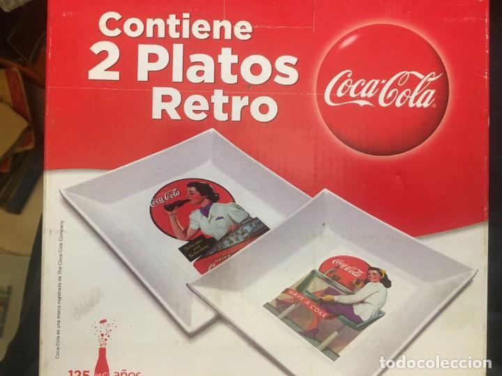 Coleccionismo de Coca-Cola y Pepsi: CINCO PLATOS RETRO COCACOLA. - Foto 4 - 246268595