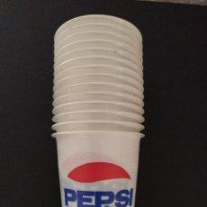 Coleccionismo de Coca-Cola y Pepsi: BONITOS VASOS DE PEPSI COLA PLÁSTICO FINO VINTAGE. Lote 247392260